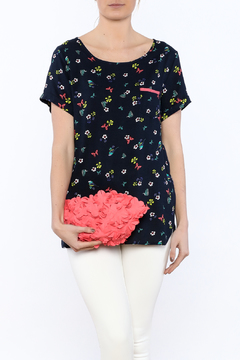 Yumi Navy Poppy Tee - Product List Image