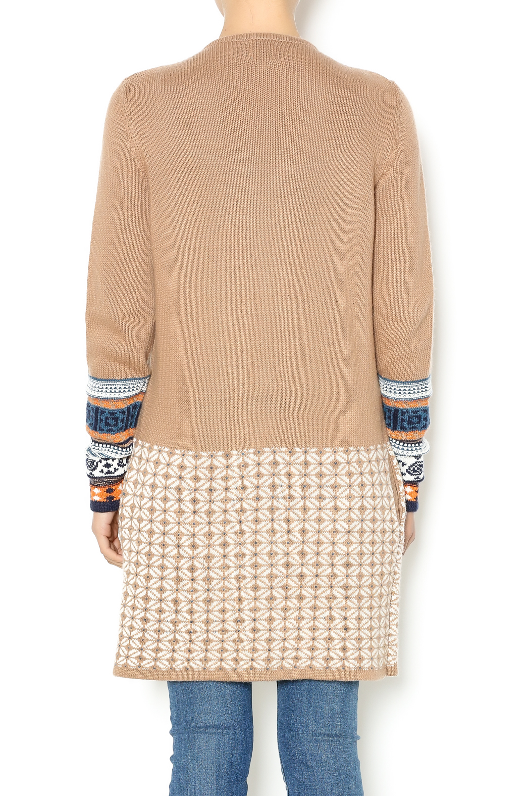 Yumi Tan Cardigan Sweater from Wisconsin by Lola May's — Shoptiques