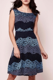 Yumi Tricolor Lace Dress - Product Mini Image