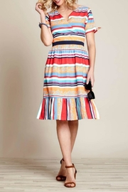 Yumi Vacation Stripe Dress - Product Mini Image