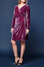 Yumi Velvet Wrap Dress - Product Mini Image