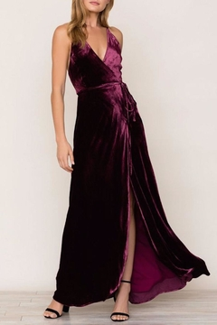 Shoptiques Product: Velvet Wrap Maxi