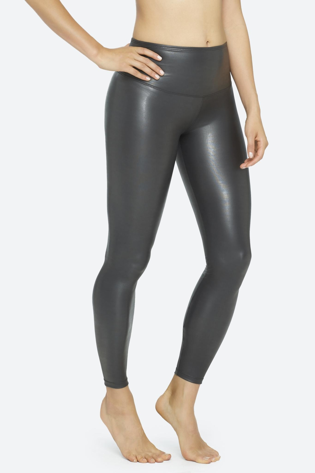 Yummie Tummie Leather Yummie Leggings - Front Full Image