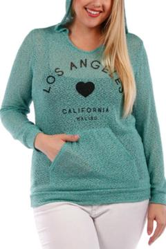 yummy plus Plus-Sized Mint Hoody - Alternate List Image