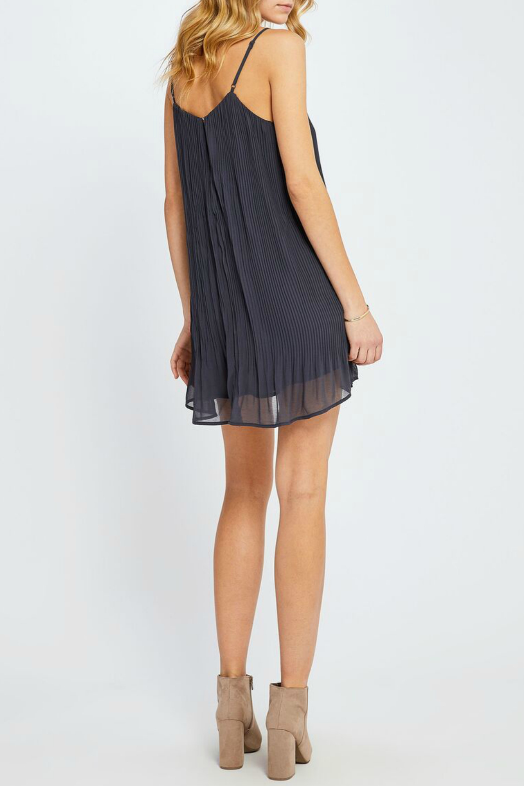 Gentle Fawn Yuna Pleated Slip Dress - Side Cropped Image
