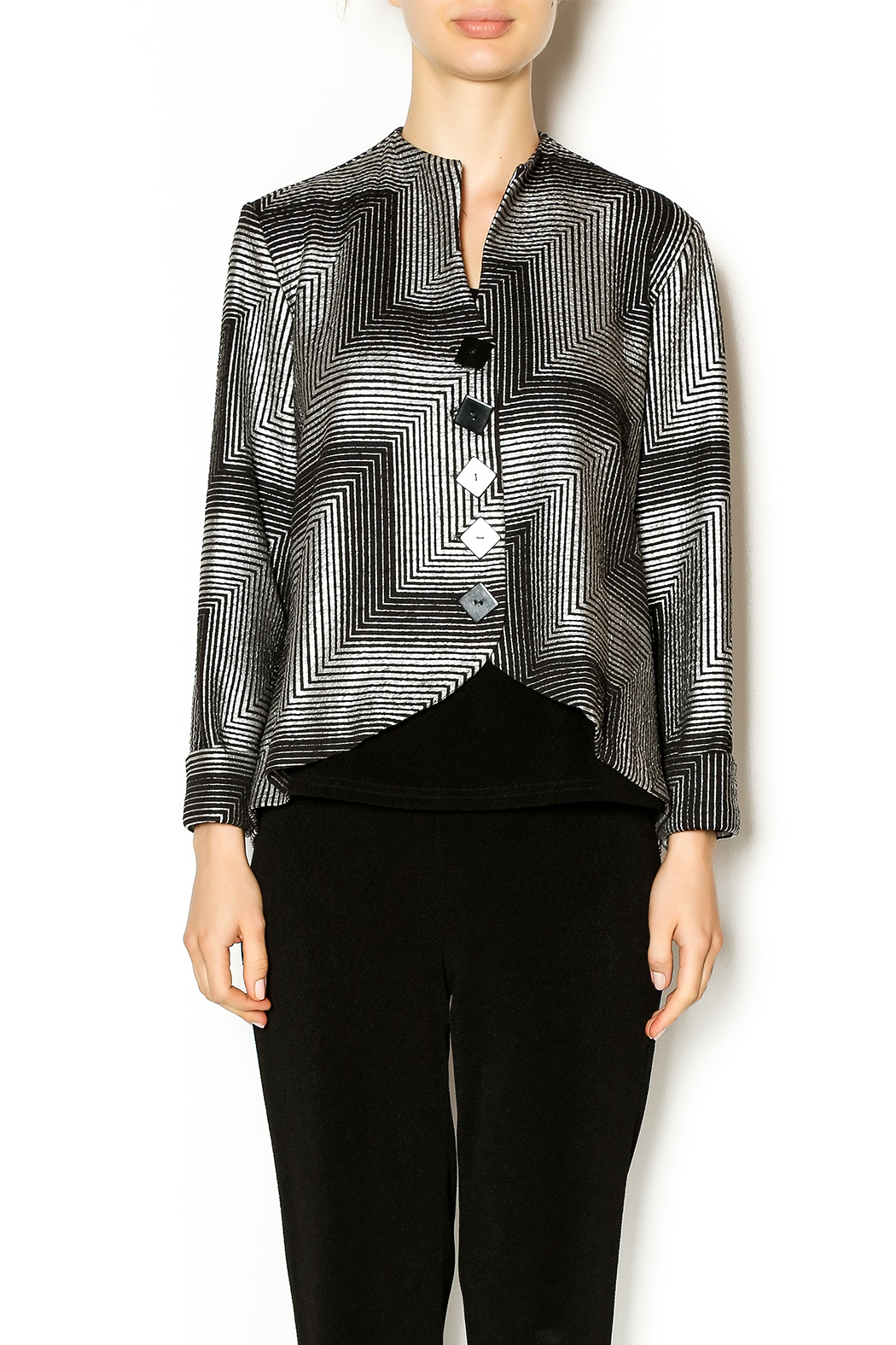 Yushi Black Silver Jacket From Worcester By French Twist
