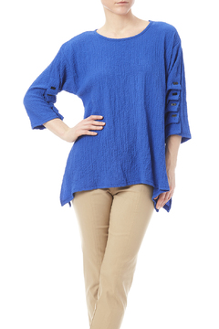 Yushi Crew Neck Blue Top - Product List Image