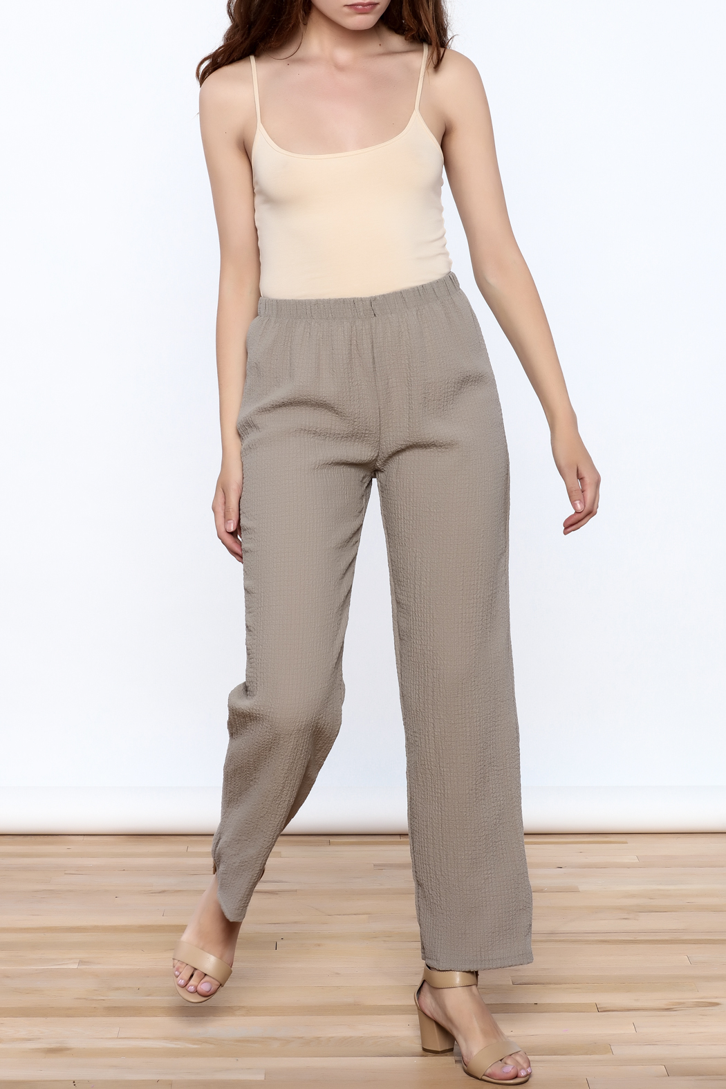 Yushi Easy To Wear Pants - Front Full Image
