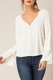 Black Swan Yvette Bell Sleeve V Neck Top - Product Mini Image