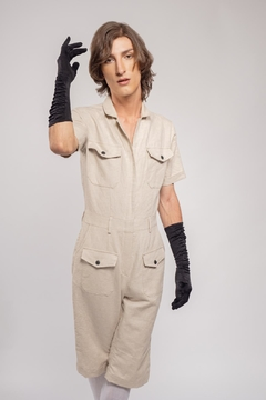 Yvette LIBBY N'guyen Paris Jumpsuit Wright Flyer Almond_yvette Libby N'guyen Paris - Product List Image