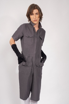 Yvette LIBBY N'guyen Paris Jumpsuit Wright Flyer Grey_yvette Libby N'guyen Paris - Product List Image