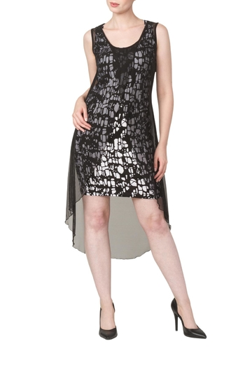 Yvonne Marie Black And White Dress - Main Image