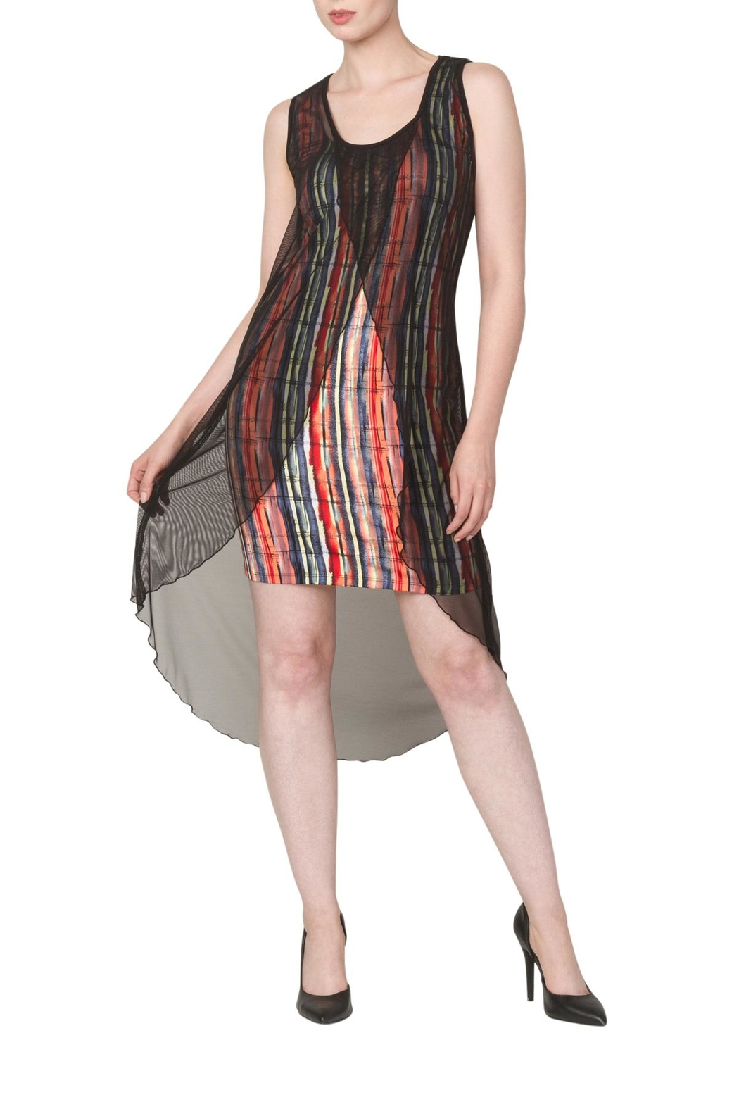 Yvonne Marie Lola Multi Color Dress - Front Cropped Image
