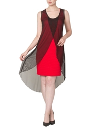 Yvonne Marie Red Nelly Dress - Front full body