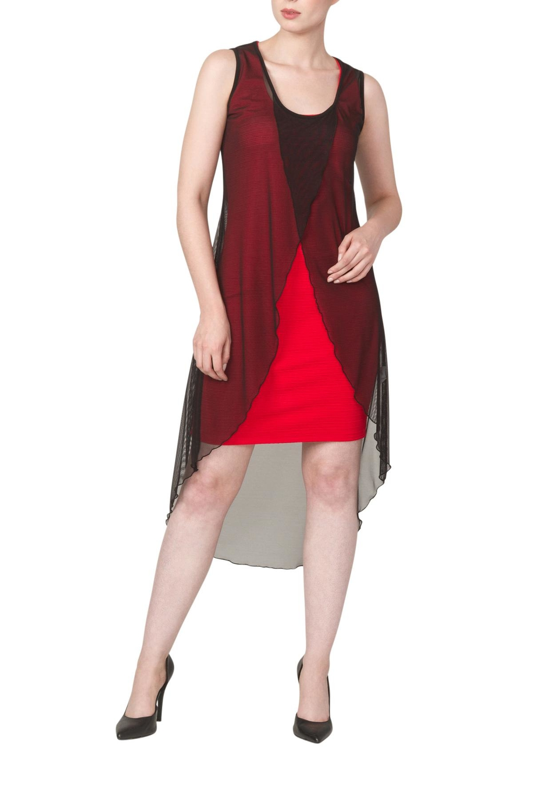 Yvonne Marie Red Nelly Dress - Front Cropped Image