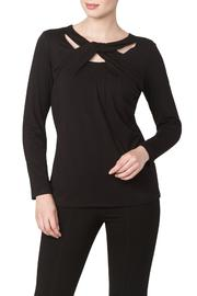 Yvonne Marie Black Cut Out Top - Product Mini Image