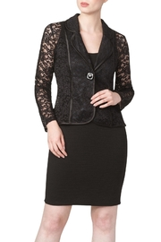 Yvonne Marie Black Lace Jacket - Front cropped