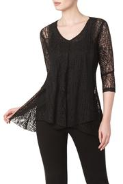 Yvonne Marie Black Lace Tunic Top - Product Mini Image