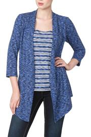 Yvonne Marie Blue Fooler Top - Product Mini Image