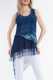 Yvonne Marie Blue Fringe Tunic - Product Mini Image
