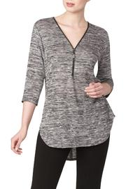 Yvonne Marie Charcoal Zip Top - Product Mini Image