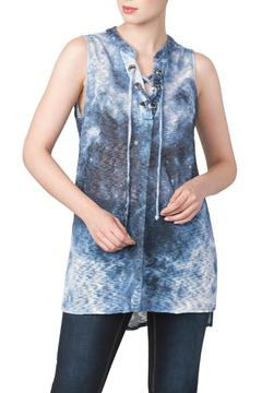 Yvonne Marie Denim Knit Tunic Top - Product List Image