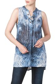 Yvonne Marie Denim Knit Tunic Top - Product Mini Image