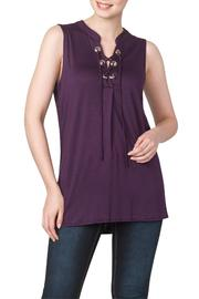Yvonne Marie Grape Tunic Top - Product Mini Image