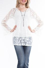 Yvonne Marie Ivory Lace Tunic - Product Mini Image