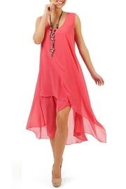 Yvonne Marie Layered Chiffon Dress - Product Mini Image