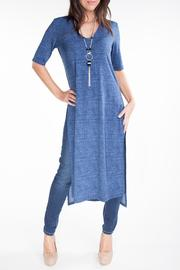 Yvonne Marie Long Denim Tunic - Product Mini Image
