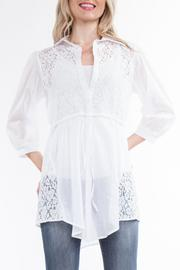 Yvonne Marie Off White Blouse - Product Mini Image