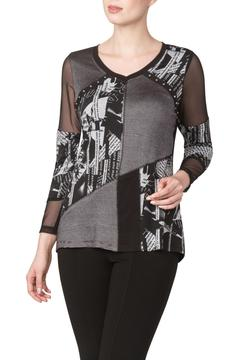 Shoptiques Product: Printed Top With Mesh