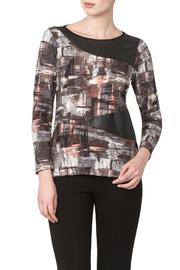 Yvonne Marie Printed Top With Pleather - Product Mini Image