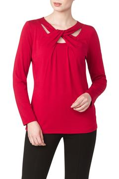 Shoptiques Product: Red Cut Out Top