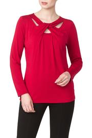 Yvonne Marie Red Cut Out Top - Product Mini Image