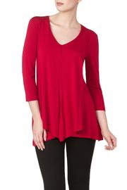 Yvonne Marie Red Flyaway Top - Product Mini Image