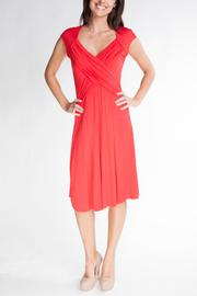 Yvonne Marie Red Wrap Front-Dress - Product Mini Image