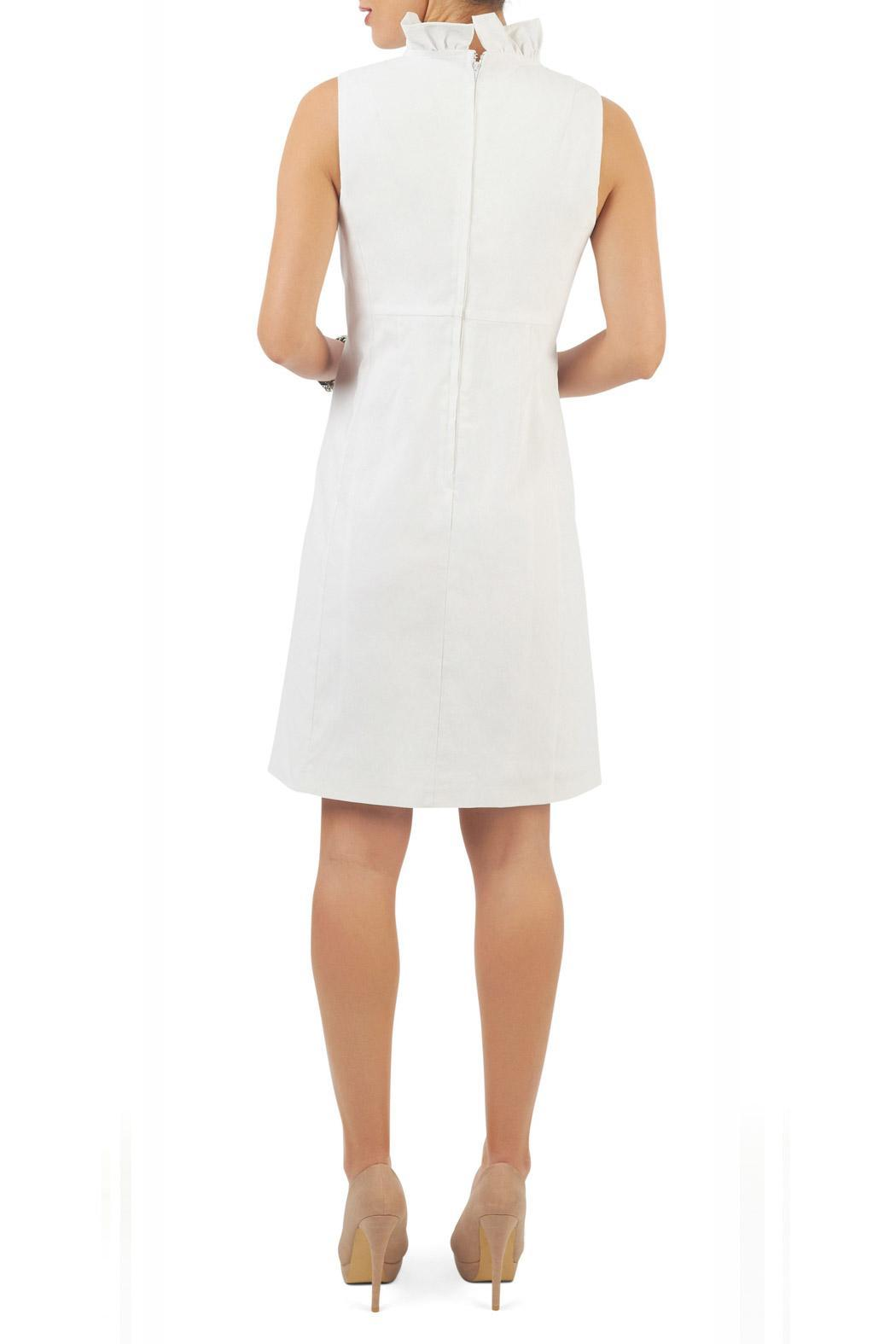 Yvonne Marie Ruffle Collar Dress White From Montreal