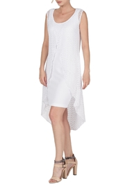 Yvonne Marie White Two Piece Dress - Product Mini Image