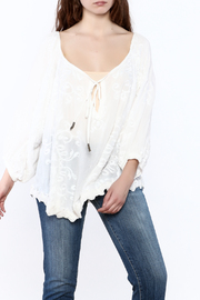Z&L Europe White Flowy Top - Product Mini Image
