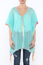 Z&L Europe Floral Pompom Tunic Top - Side cropped
