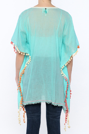 Z&L Europe Floral Pompom Tunic Top - Back cropped