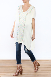Z&L Europe Ombre Pompom Tunic Top - Front full body