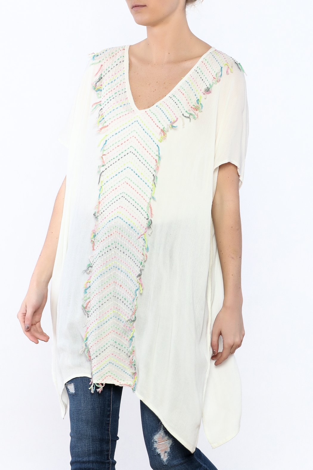Z&L Europe Ombre Pompom Tunic Top - Main Image