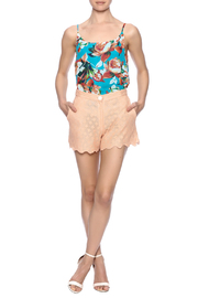 Z&L Europe Peach Lace Shorts - Front full body