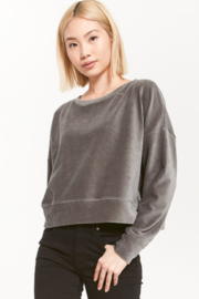 z supply Z Supply Astrid Cord Pullover Ash Green ZT203555 - Product Mini Image