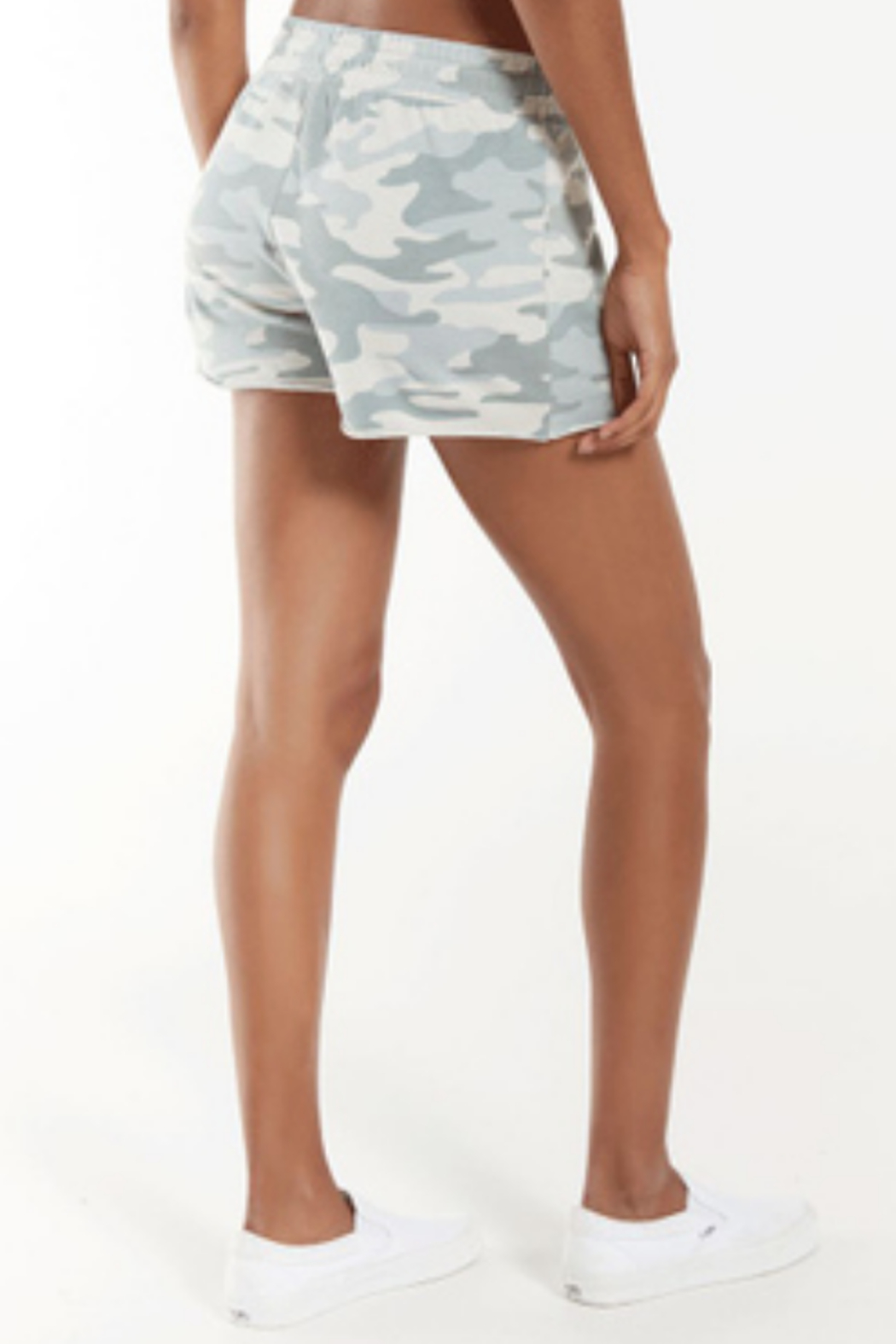 z supply Z Supply Camo Sporty Short in Dusty Sage - Front Full Image