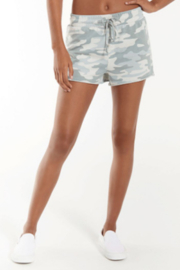 z supply Z Supply Camo Sporty Short in Dusty Sage - Product Mini Image