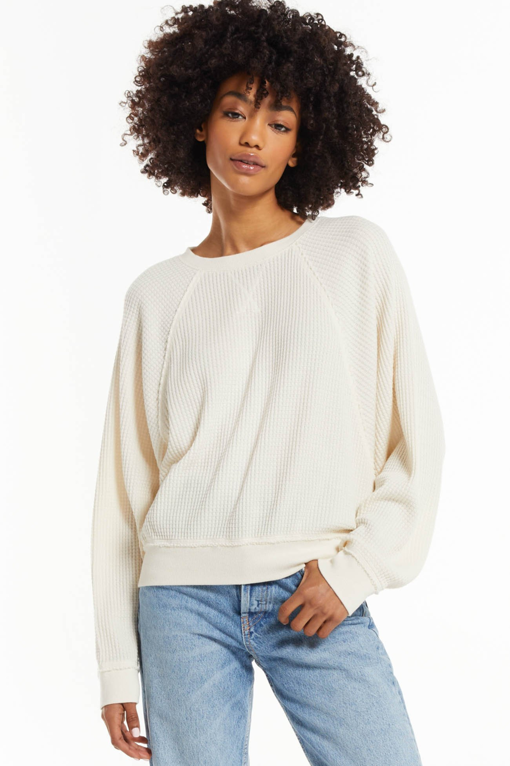 z supply Z Supply Claire Waffle Top - Main Image